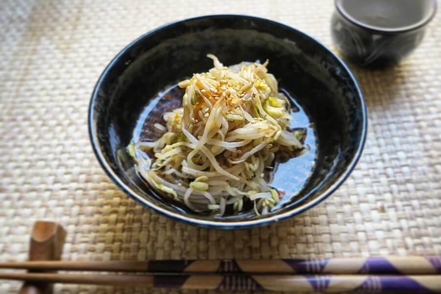 moyashi, giormogli di soia in salsa agrodolce