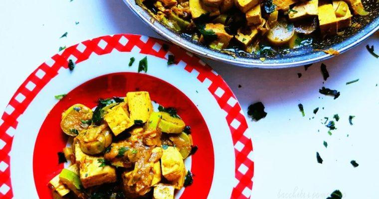 tofu e zucchine trombetta al curry