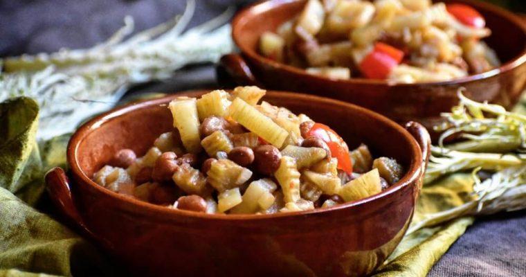 minestra di cardo gobbo e fagioli borlotti