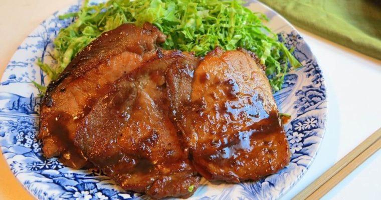 lonza di maiale in salsa allo zenzero