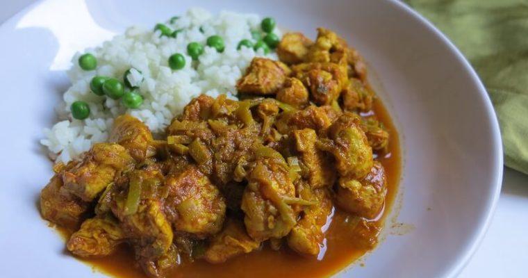 鶏むね肉とポロ葱の簡単カレー