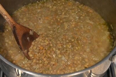 レンズ豆のスープ zuppa di lenticchie