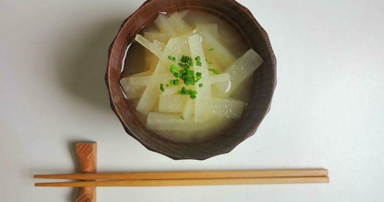 zuppa di miso con daikon