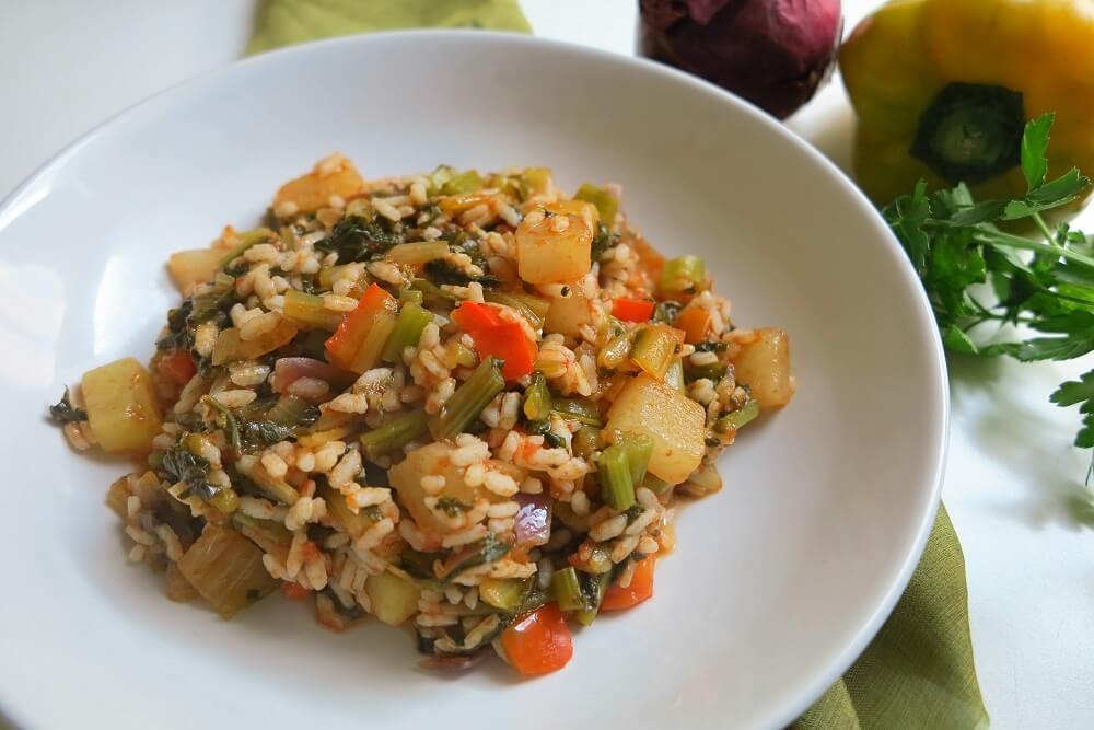 イタリア野菜とお米のミネストラ