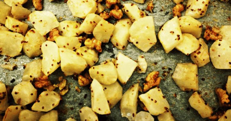トピナンブール(菊芋)と粒マスタードのオーブン焼き