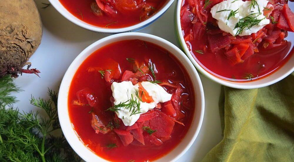 Boršč (zuppa di barbabietole)