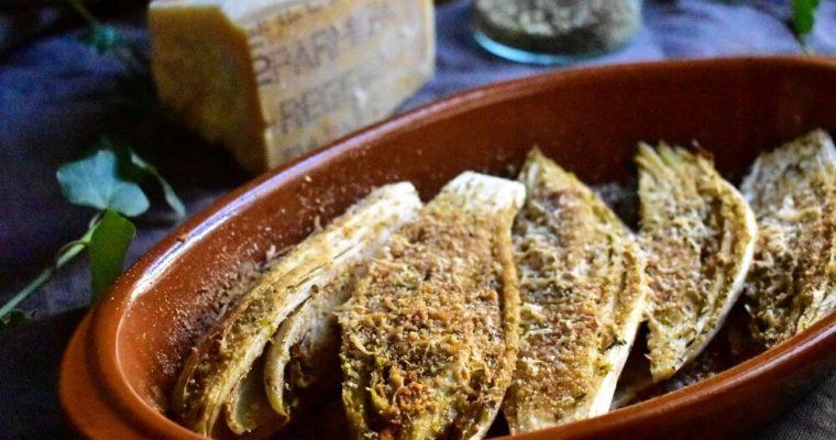 チコリ(アンディーブ)の香草パン粉焼き
