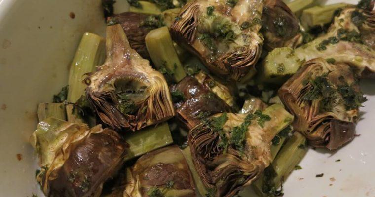 カルチョーフィ(アーティチョーク)のオーブン焼き
