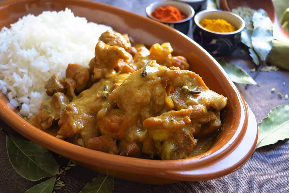 pollo al curry alla srilankese