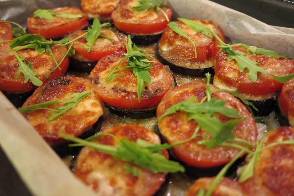 茄子とトマトのオーブン焼き
