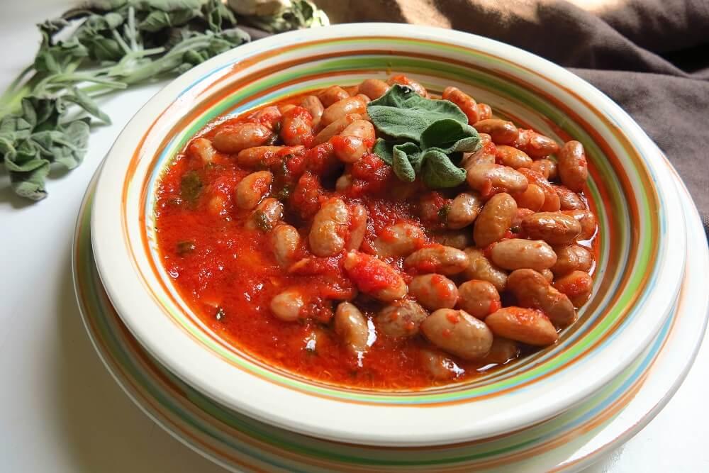 うずら豆のトマト煮込み トスカーナ風