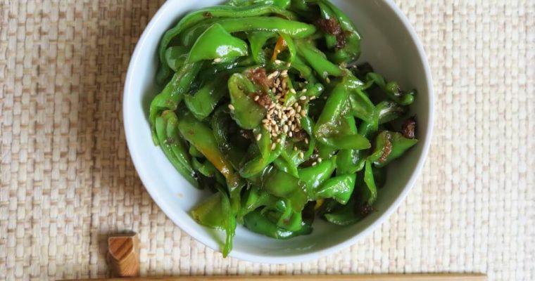 peperoni friggitelli alla giapponese