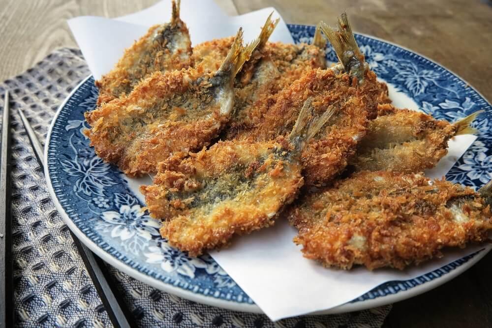sardine impanate nel panko e fritte