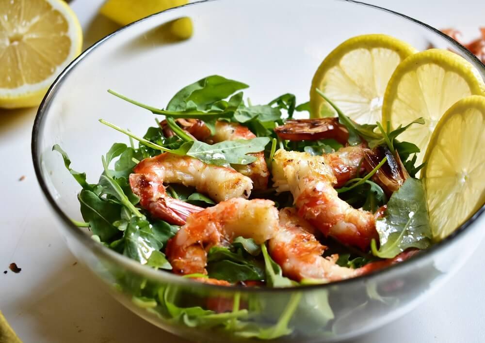 海老とルッコラのサラダ