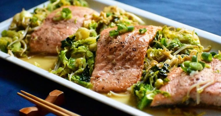 chan-chan yaki (salmone stufato con verdure e miso)