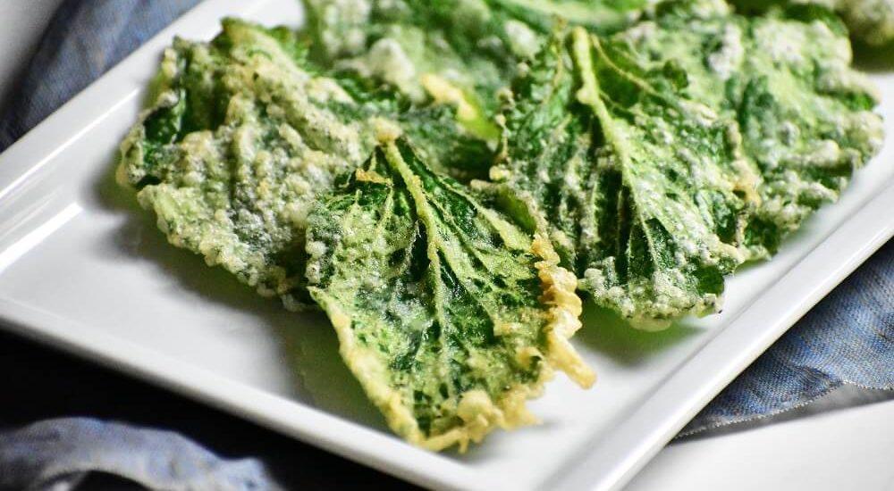 foglie di borragine fritte