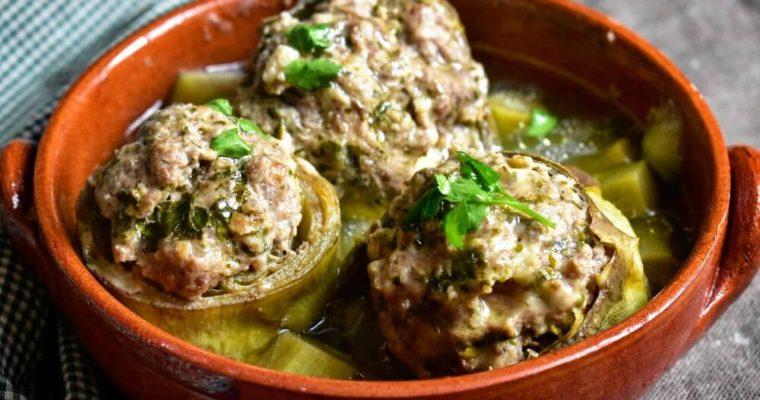 カルチョーフィの牛挽肉のリピエノ