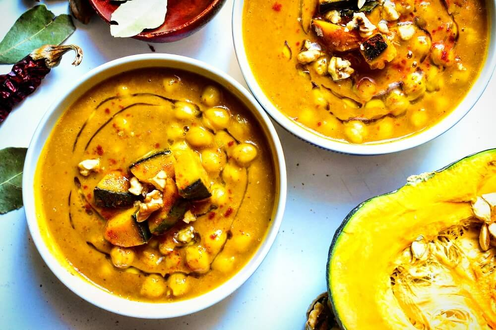 ひよこ豆とかぼちゃのスープ