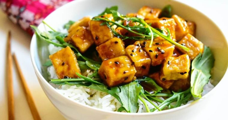 tofu amakara-don (tofu fritto alla nikkei)
