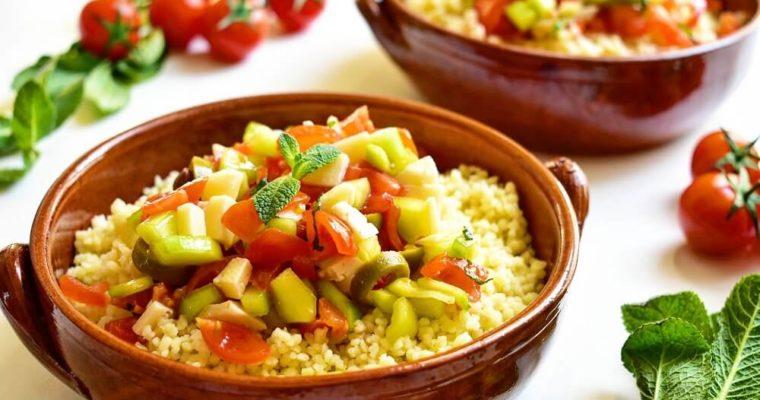 insalata di cous-cous alla mediterranea