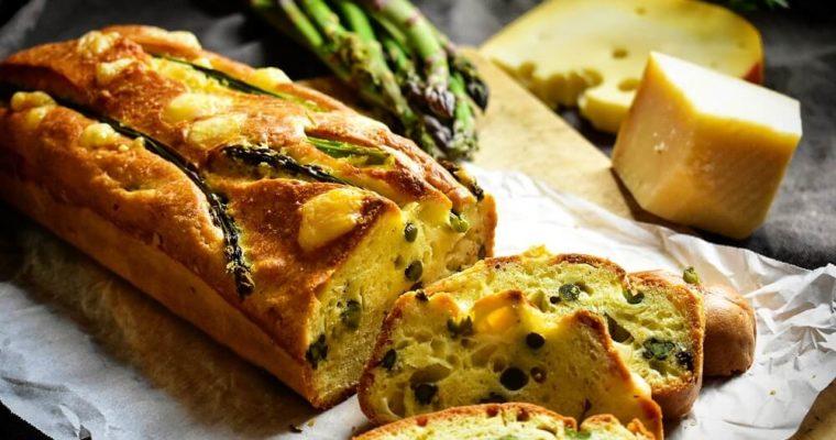 plumcake salato con asparagi e formaggio