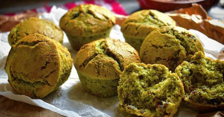 muffin soffici con matcha e anko