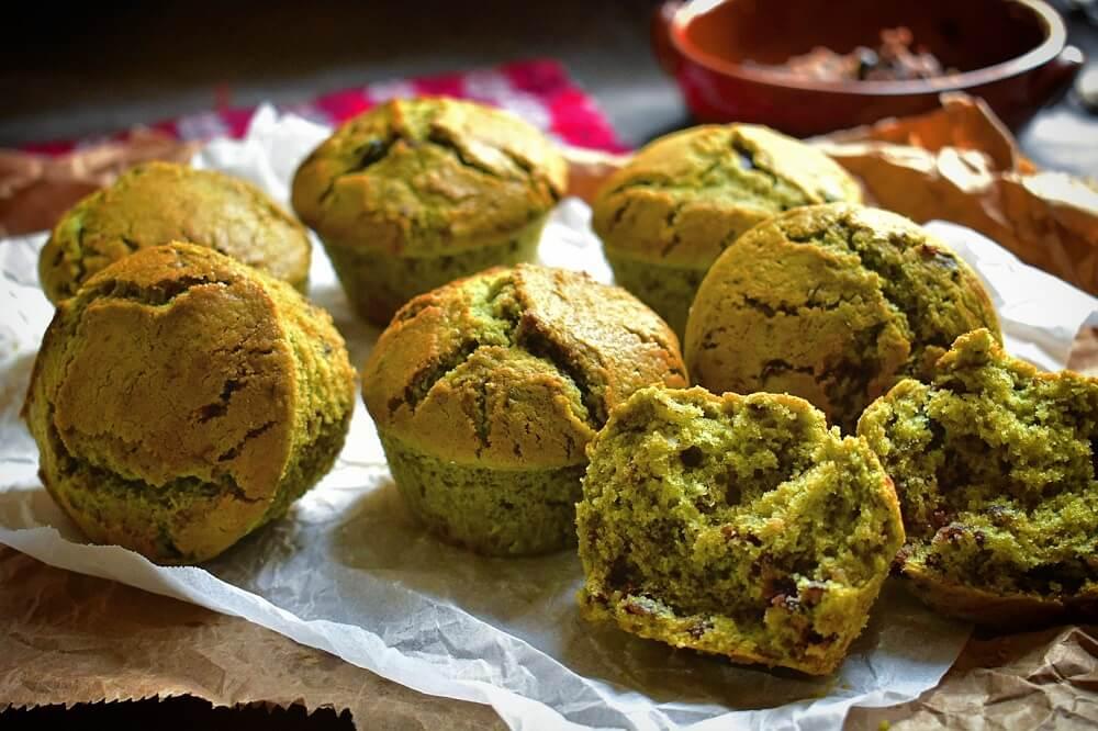 muffin con matcha e anko