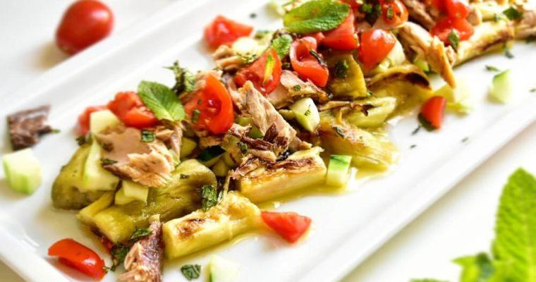 焼き茄子のイタリアンサラダ