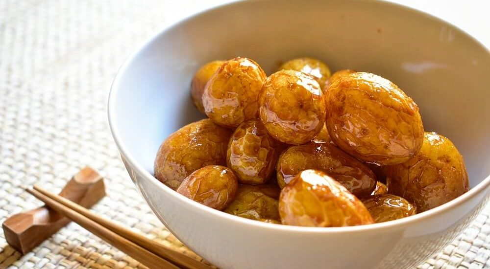 patate novelle in salsa agrodolce alla giapponese
