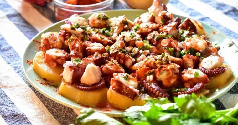 蛸とジャガイモのガリシア風(プルポ・ア・ラ・ガイエーガ)
