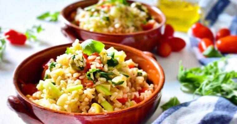 insalata estiva di riso integrale