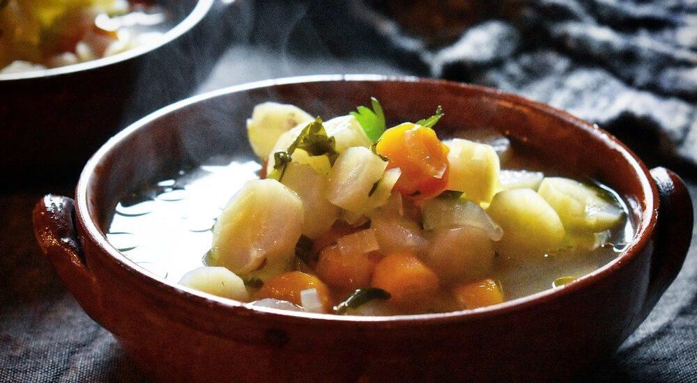 zuppa di radice amara e carota