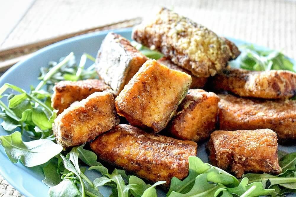 鮭の唐揚げ カレー味