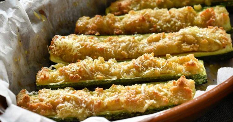 barchette di zucchine ripiene al forno