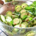 insalata di zucchine crude 生ズッキーニのサラダ