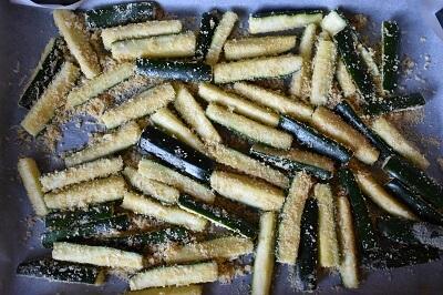 ズッキーニ・スティック bastoncini di zucchine al forno