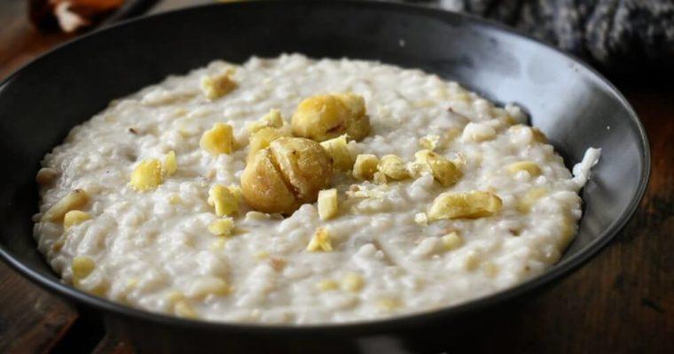 minestra di riso latte e castagne