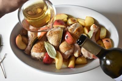 pollo e mela al forno 鶏肉とリンゴのオーブン焼き
