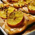 trota e agrumi al forno 鱒とミカンのオーブン焼き