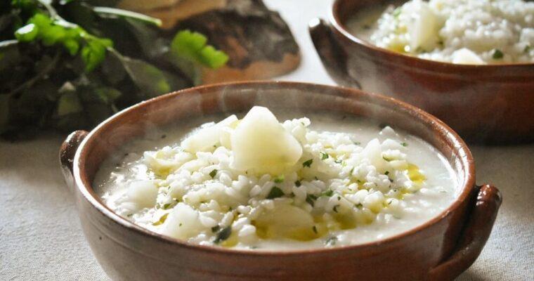 minestra di riso rape e prezzemolo