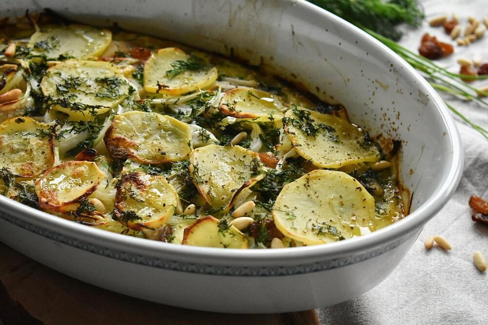 timballo di aringhe e patate al forno