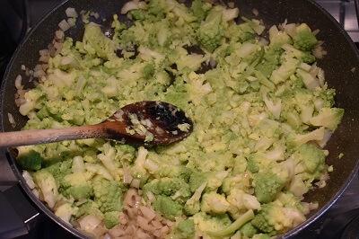 sformato di broccolo romanesco ロマネスコのスフォルマート