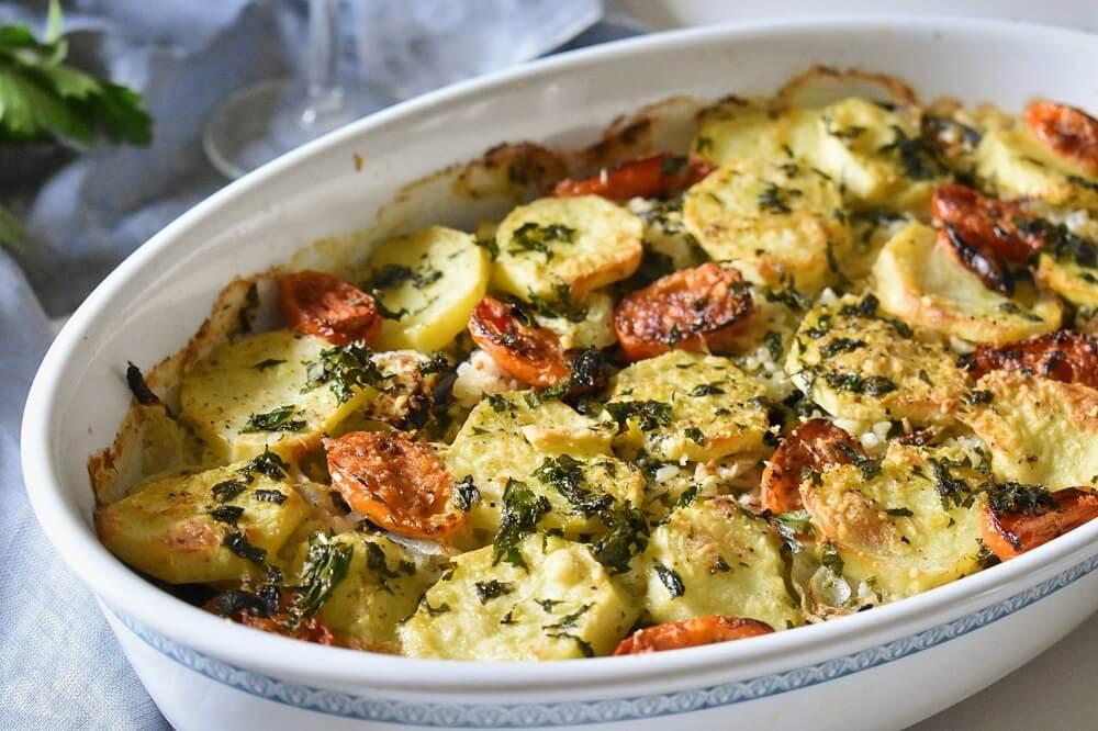 riso patate e cozze (tiella alla barese)