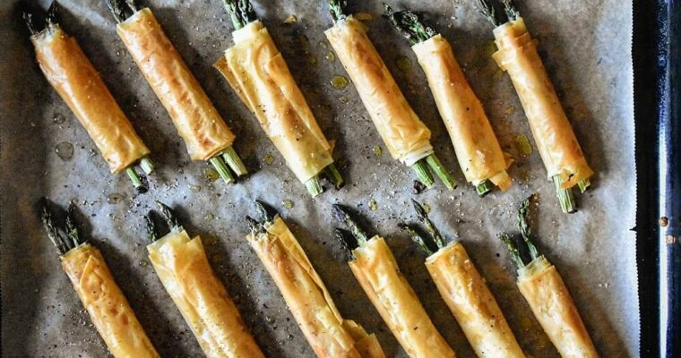 involtini di asparagi con pasta fillo