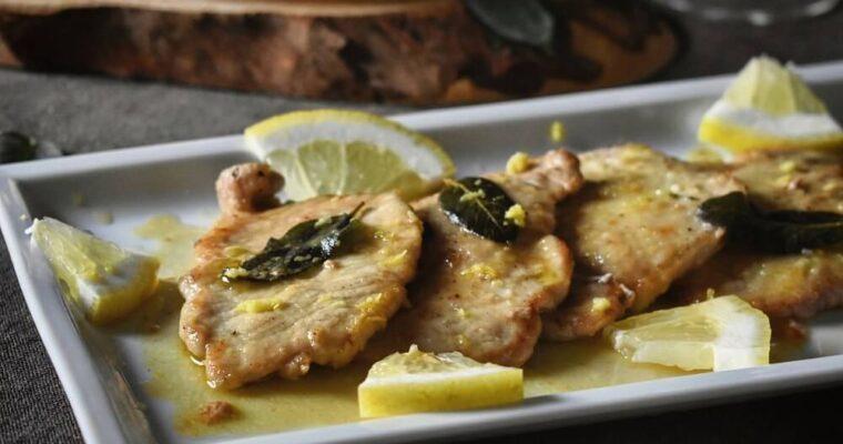 豚肉のレモン風味スカロッピーネ