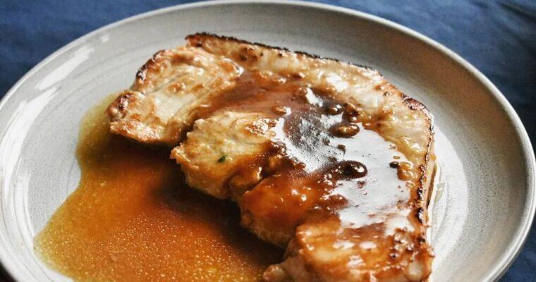 pesce spada in salsa teriyaki e zenzero