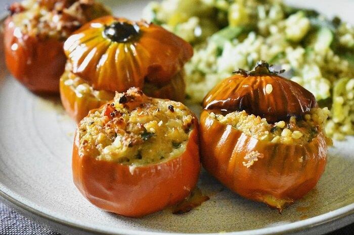 melanzane rosse di rotonda ripiene 赤茄子のリピエノ
