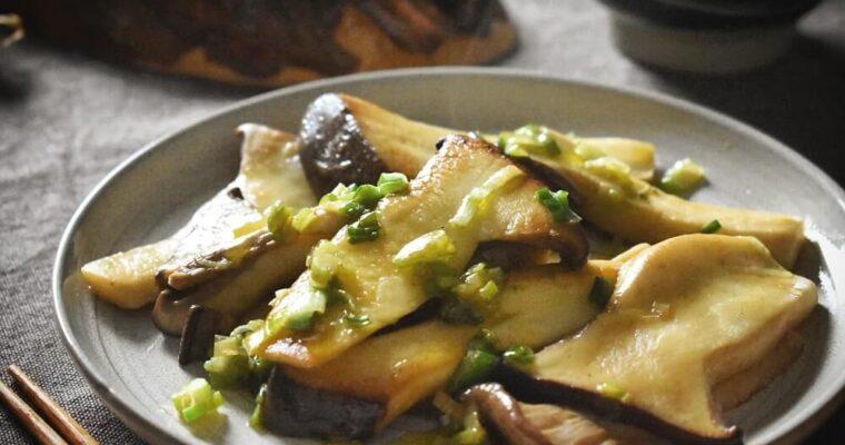 Sauté di funghi eryngii con burro e salsa di soia